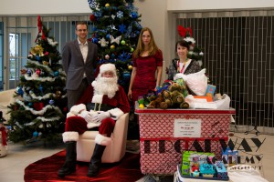 Toys Delivery: Ales Penkava (President), Santa, Martina Oslejskova (Director) and Marie-France Haineault (MCH)