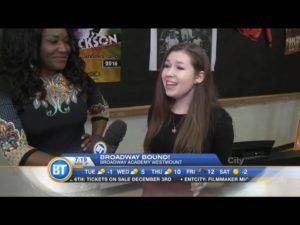 Kassie Kardos performing live at Breakfast Tv Montreal