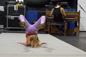 Galia and her acrobatic movements