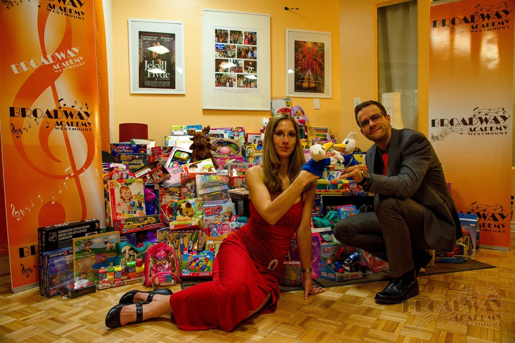 All toys collected during our charity recitals. Martina Oslejskova (Director) and Ales Penkava (President)